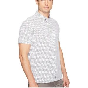Ted Baker London lenshor geo print button down